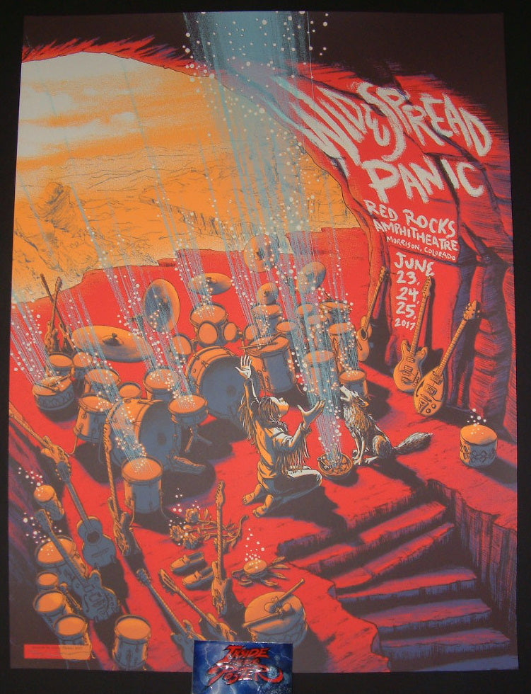 James Flames Widespread Panic Morrison Red Rocks Poster 2017 S/N