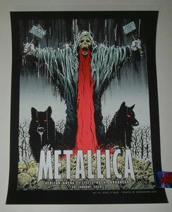 James O'Barr Metallica Little Rock Poster VIP Artist Edition 2019