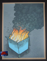 Jay Ryan Dumpster Fire #5 Art Print 2016