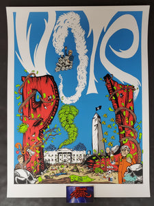 Jeff Ament Bobby Draws Skullz Pearl Jam Vote Poster 2020