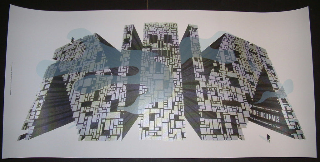 Jeff Kleinsmith Nine Inch Nails Sasquatch Music Festival Gorge Poster 2009