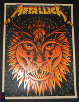 Jeff Soto Metallica Poster Lyon France 2017 Artist Edition
