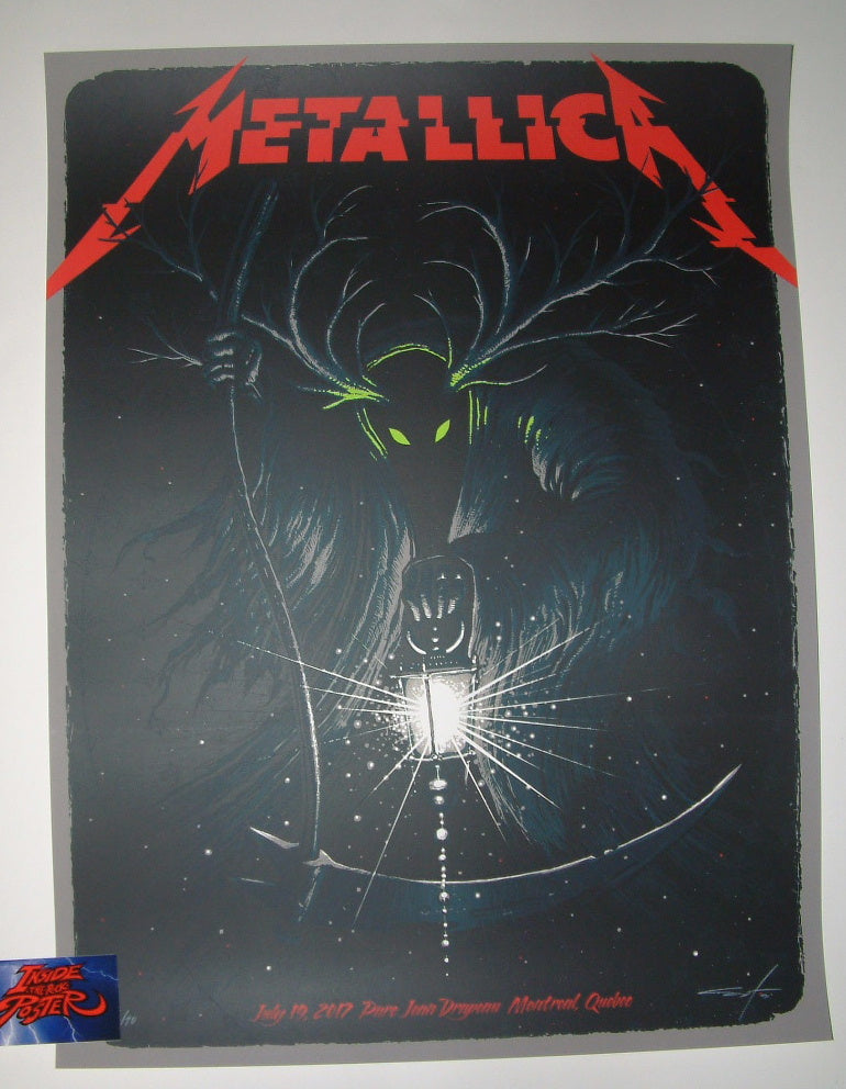 Jeff Soto Metallica Poster Montreal Canada 2017 Artist Edition