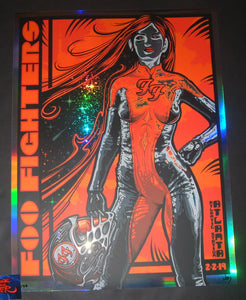 Jeff Wood Foo Fighters Atlanta Poster Artist Edition Foil Variant 2019