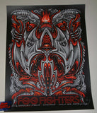 Jeff Wood Foo Fighters Chicago Poster Alien Wrigley Field 2018 Artist Edition