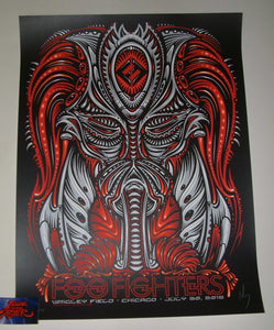 Jeff Wood Foo Fighters Chicago Poster Predator Night 2 2018 Artist Edition