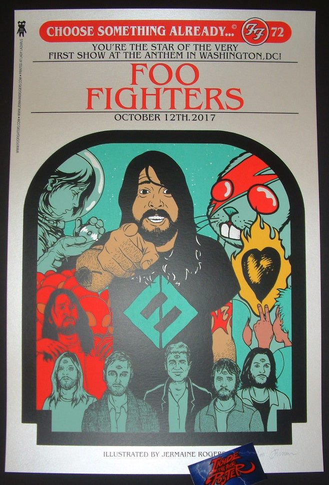 Jermaine Rogers Foo Fighters Poster Washington DC 2017 Artist Edition