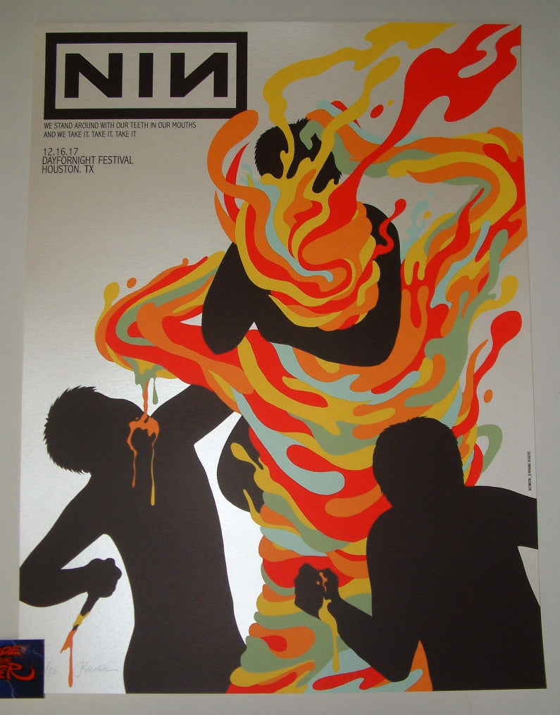Jermaine Rogers Nine Inch Nails Poster Houston 2017 Artist Edition ...