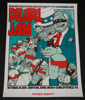 Jermaine Rogers Pearl Jam Poster Charlottesville Artist Edition 2013 S/N