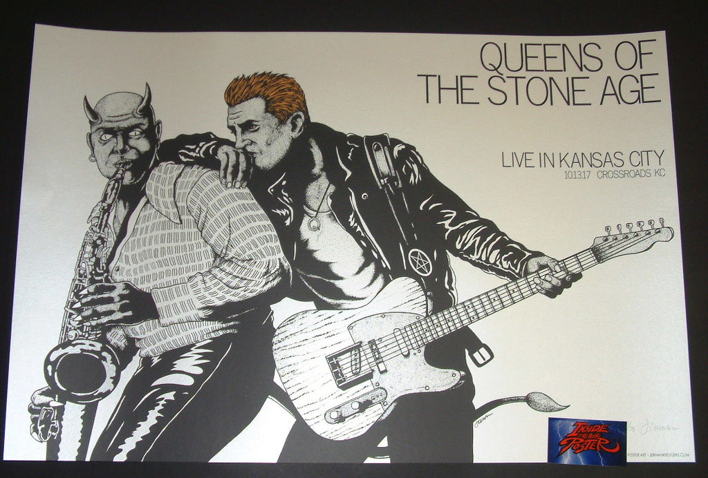 Jermaine Rogers Queens of the Stone Age Poster Kansas City 2017 Artist Edition