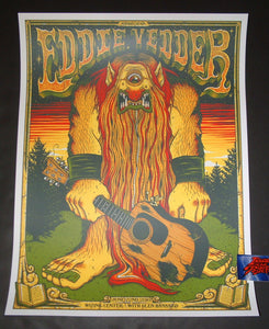 Jim Mazza Eddie Vedder Madrid Poster 2019