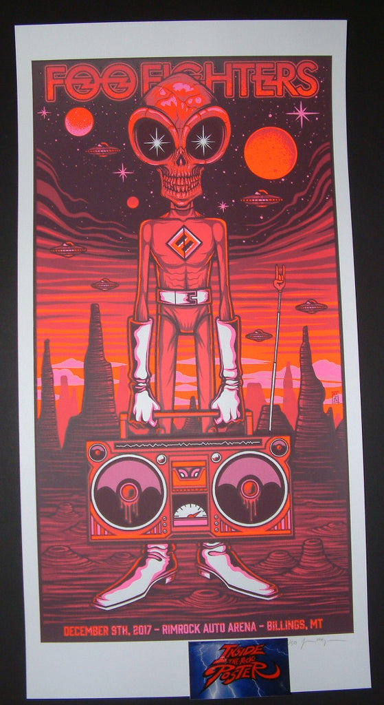 Jim Mazza Foo Fighters Poster Billings 2017 Artist Edition