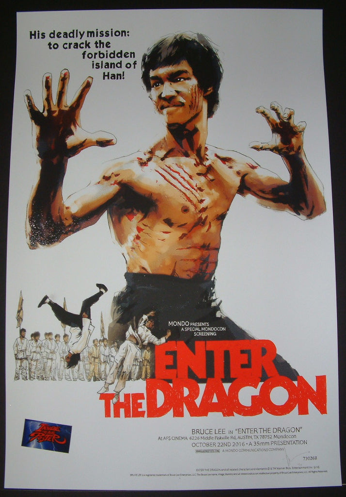 Jock Enter The Dragon Bruce Lee Movie Poster Mondo Artist Edition 2017 S/N