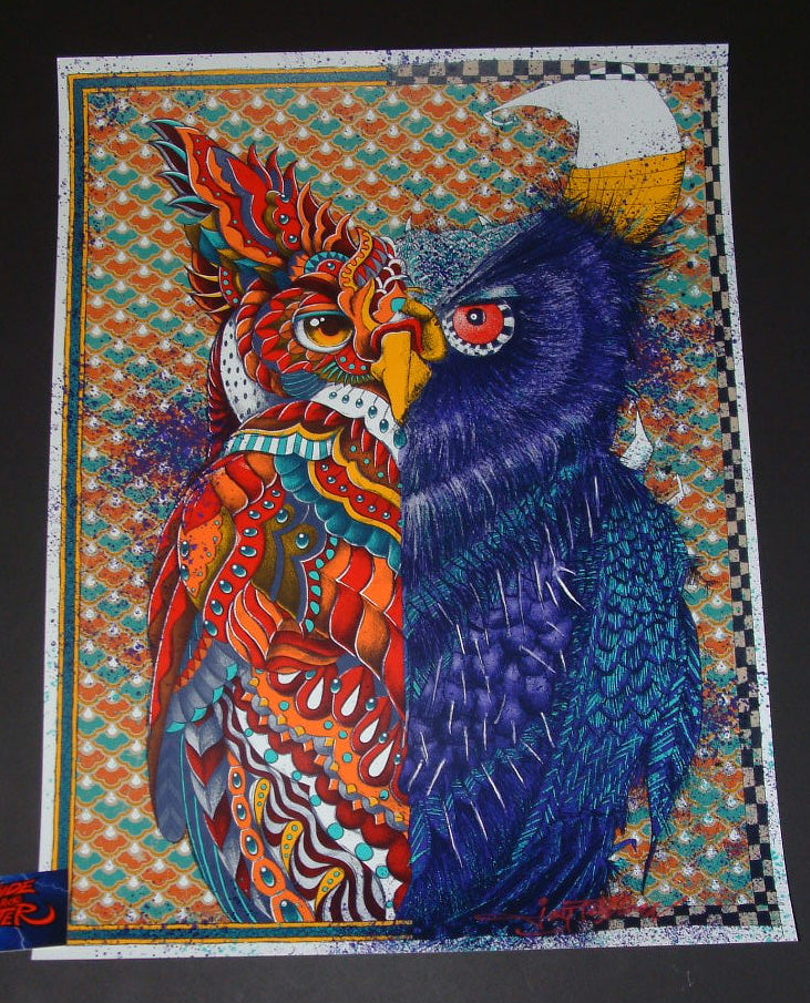 Joey Feldman BioWorkZ Ben Kwok Owl Out Of Chaos Art Print 2017