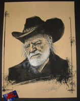 Joey Feldman Willie Nelson Art Print Hemp Variant 2018