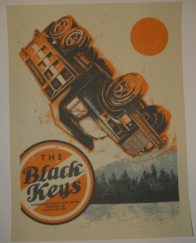 John Vogl The Black Keys Portland Concert Poster Artist Edition 2012 S/N