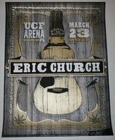 Jon Smith Eric Church Orlando Poster 2012 S/N