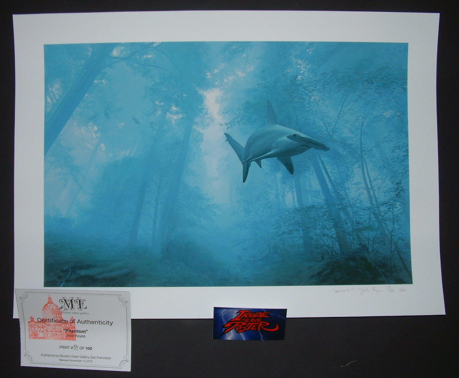 Josh Keyes Phantom Shark Fine Art Print 2016