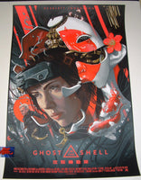 Juan Carlos Ruiz Burgos Ghost In The Shell Movie Poster Red Variant 2017