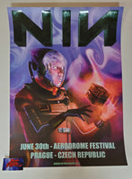 Julian Lasne Nine Inch Nails Prague Poster 2018