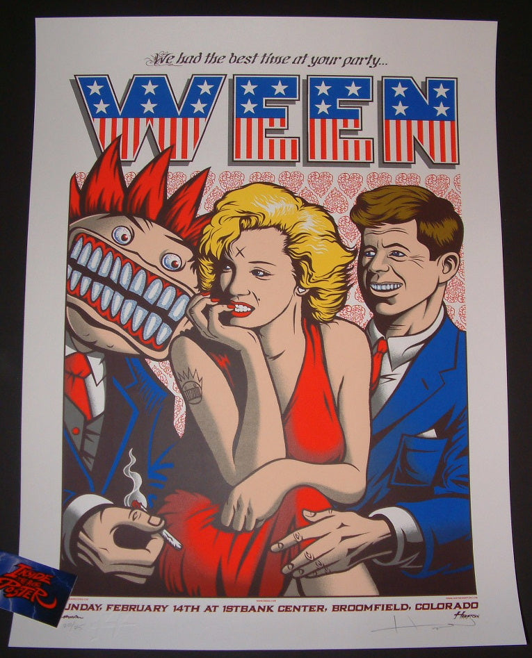 Justin Hampton Jermaine Rogers Ween Poster Broomfield 2016 Artist Edition Night 3