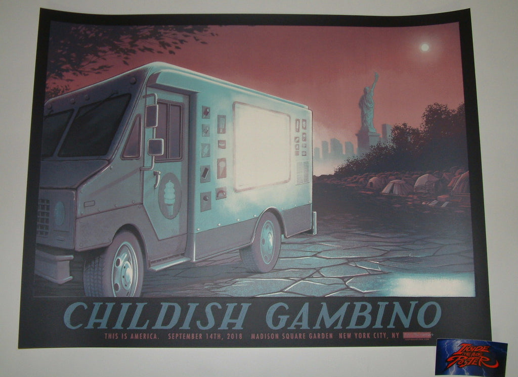 Justin Santora Childish Gambino New York Poster 2018 Artist Edition