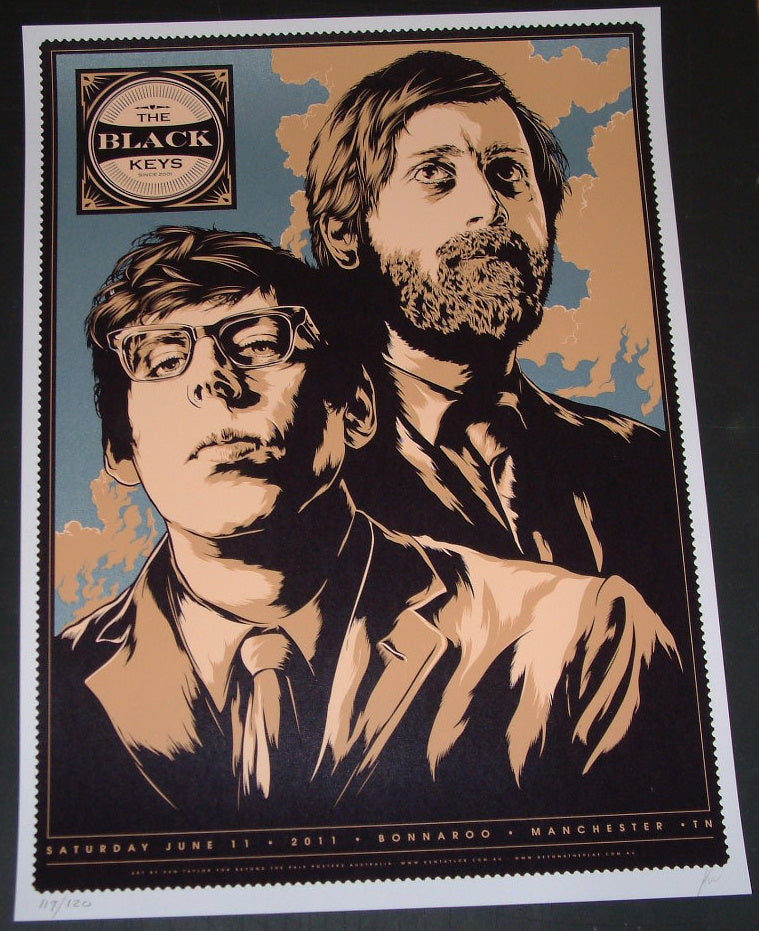 Ken Taylor The Black Keys Bonnaroo Music Festival Poster 2011 S/N