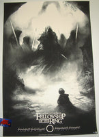 Karl Fitzgerald The Fellowship of the Ring Movie Poster Variant 2016