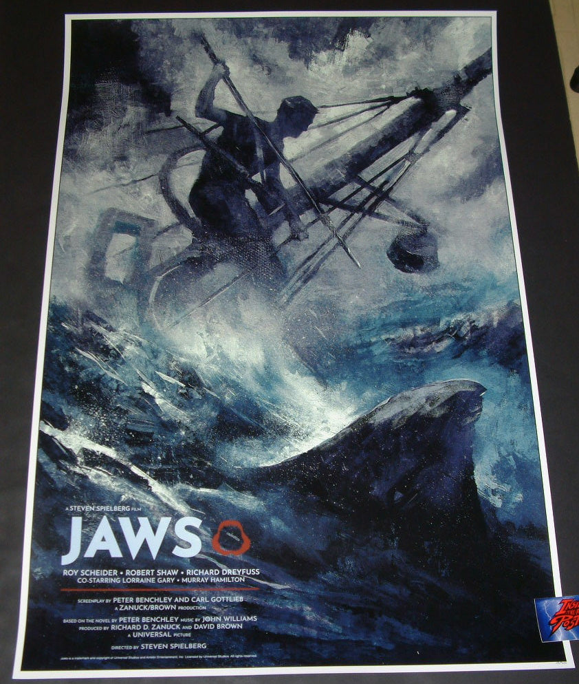 Karl Fitzgerald Jaws Movie Poster 2019