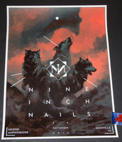 Karl Fitzgerald Nine Inch Nails Poster Nashville 2018 Artist Edition