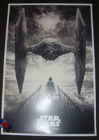 Karl Fitzgerald Star Wars Rogue One Movie Poster Black Variant 2016