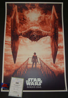 Karl Fitzgerald Star Wars Rogue One Movie Poster Red Variant 2016