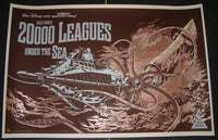 Ken Taylor 20,000 Leagues Under The Sea Movie Poster Variant Mondo 2012