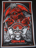 Ken Taylor Gremlins Movie Poster Red Variant Mondo 2011