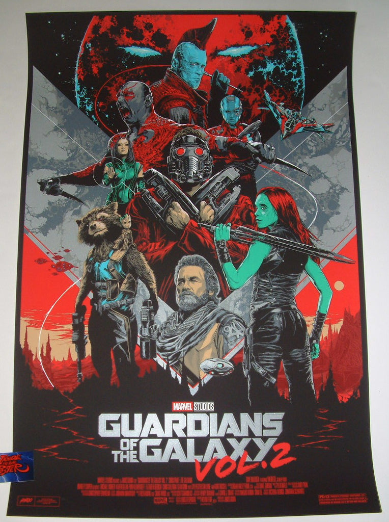 Ken Taylor Guardians of the Galaxy Vol. 2 Movie Poster 2017 Mondo