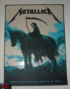 Ken Taylor Metallica Poster Cologne Germany Koln 2017 Artist Edition