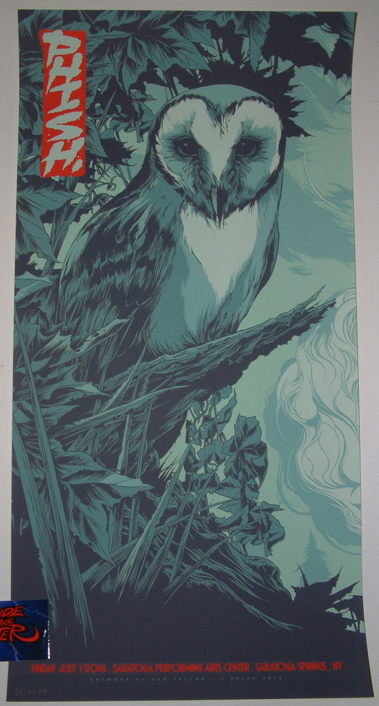Ken Taylor Phish Poster Saratoga SPAC 2016 Artist Edition Night 1