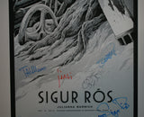 Ken Taylor Sigur Ros Poster Miami Silver Variant Band Signed 2013
