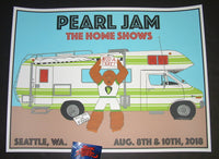 Kevin Shuss Pearl Jam Seattle Poster 2018 Home Shows