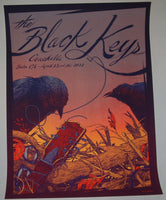 Kevin Tong Black Keys Coachella Music Festival Poster 2012 Artist Edition S/N