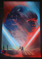 Kevin Tong Cloud City Duel Empire Strikes Back Movie Poster 2016 Mondo