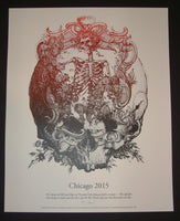 Kyle Baker Grateful Dead Chicago Poster Black Variant 2015 Fare Thee Well Tour