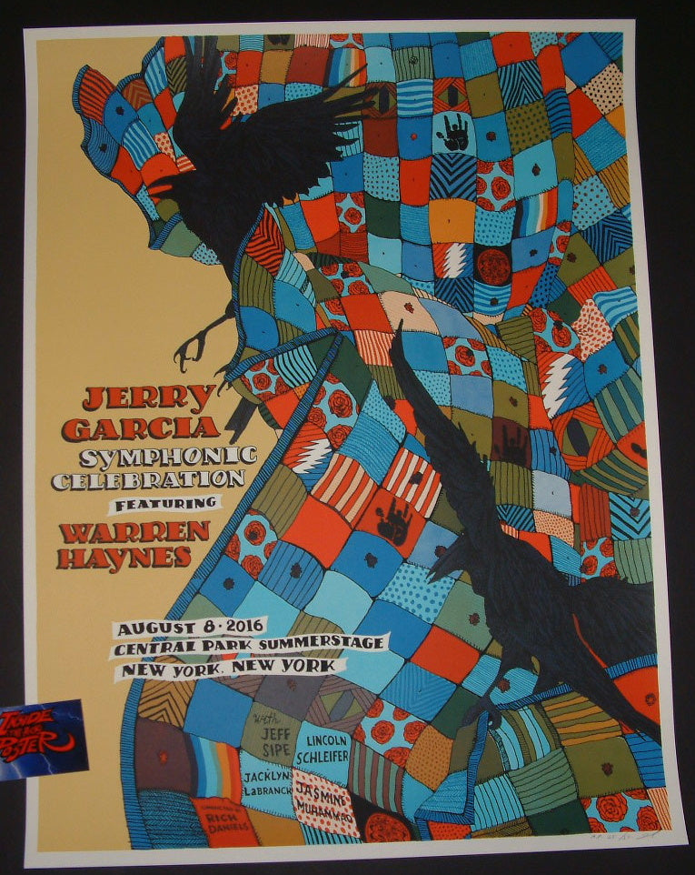Jessica Seamans Landland Jerry Garcia Symphonic Celebration Poster New York 2016 Artist Edition