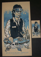 Lars Krause Nick Cave Poster Greenville Festival Berlin Germany Blue Variant 2013 Artist Edition S/N