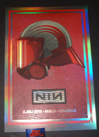 Lars Krause Nine Inch Nails Poster Berlin Germany Grey Helmet Holo Foil Variant 2018 Artist Edition