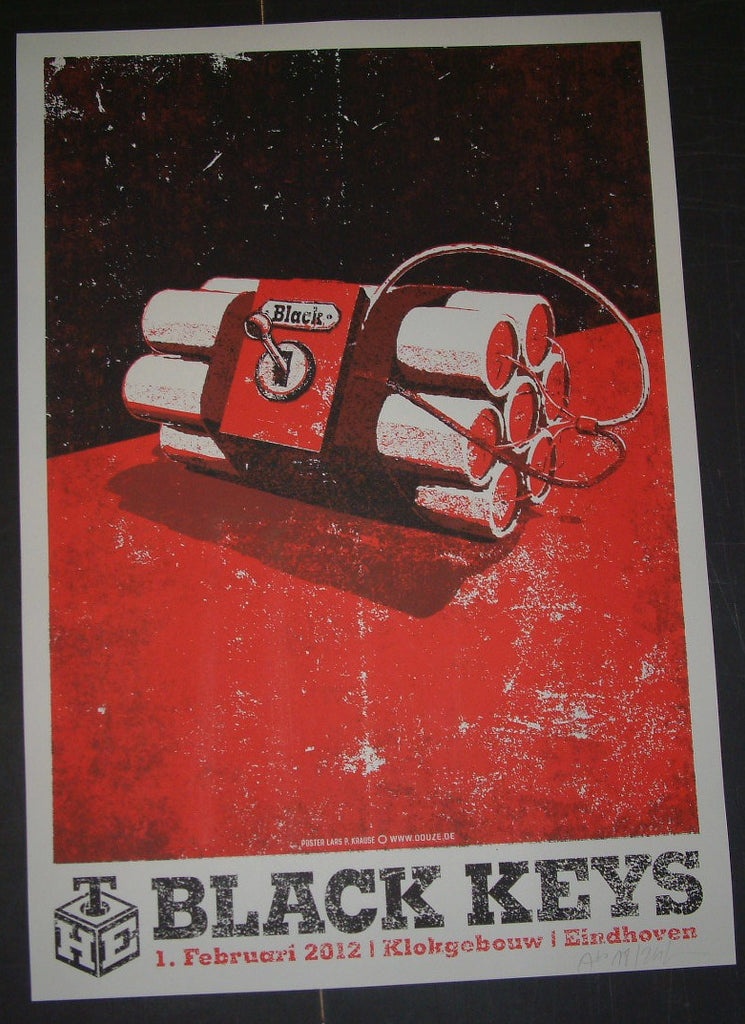 Lars Krause Black Keys Eindoven Germany Poster 2012 S/N