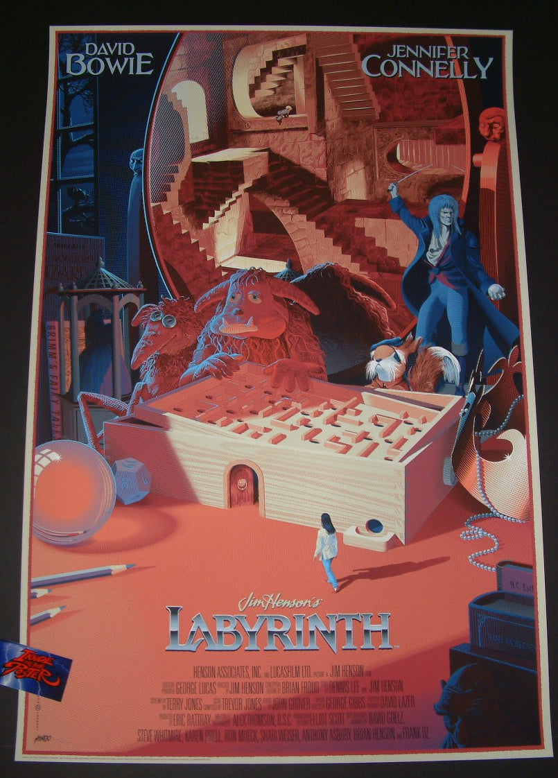 Laurent Durieux Labyrinth Movie Poster Mondo 2017 Inside The Poster