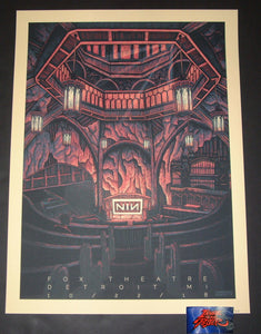 Luke Martin Nine Inch Nails Detroit Poster 2018 Night 1