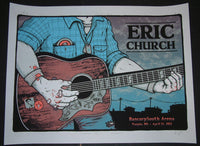 Matt Leunig Eric Church Tupelo Poster 2012 Signed Artist Proof