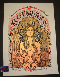 Malleus Foo Fighters Poster Prague 2017 Artist Edition S/N